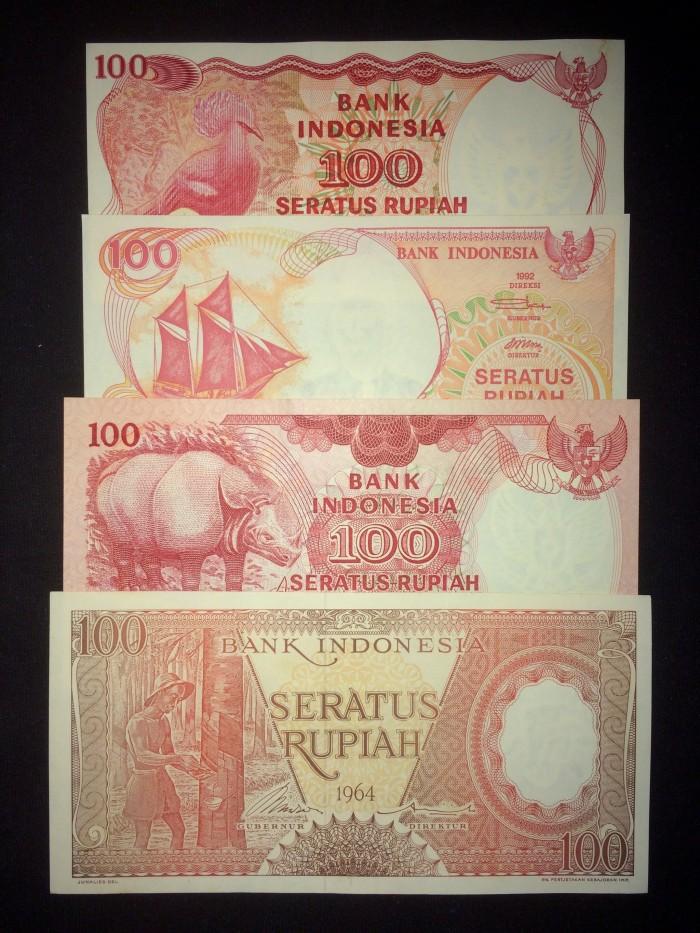 harga Set 100 rupiah (4 lembar) / uang kuno indonesia / koleksi / hobi Tokopedia.com