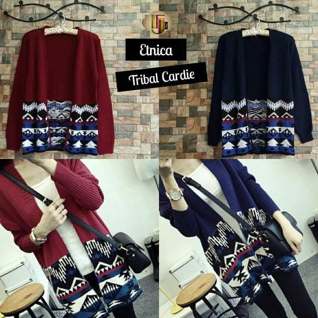 Foto Produk Etnica Outer Cardy, ethnica tribal cardie, etnica tribal cardie murah - Maroon dari wiigan55