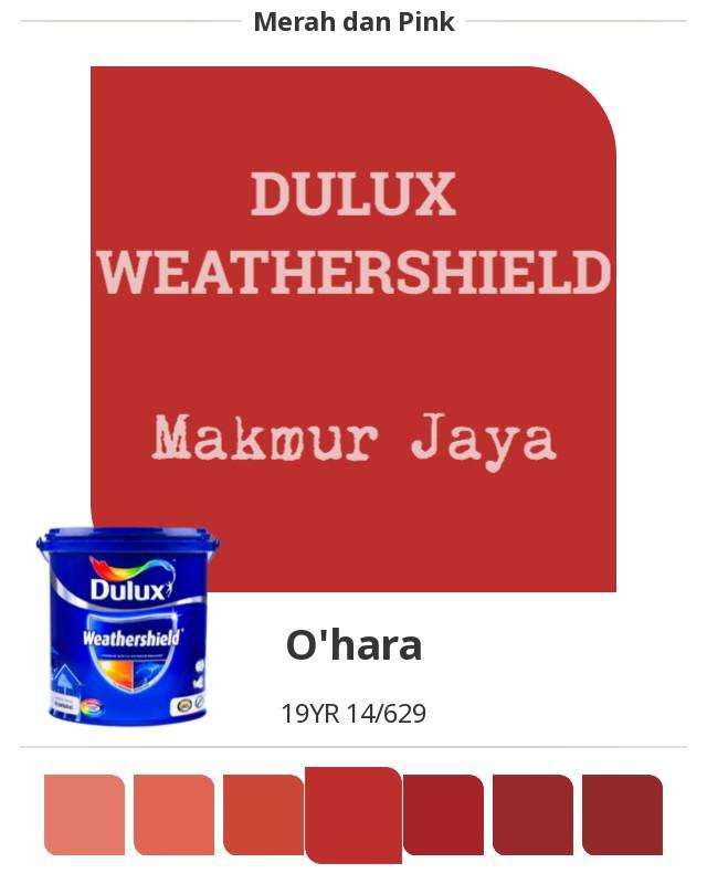 harga Dulux weathershield o'hara cat tembok eksterior Tokopedia.com