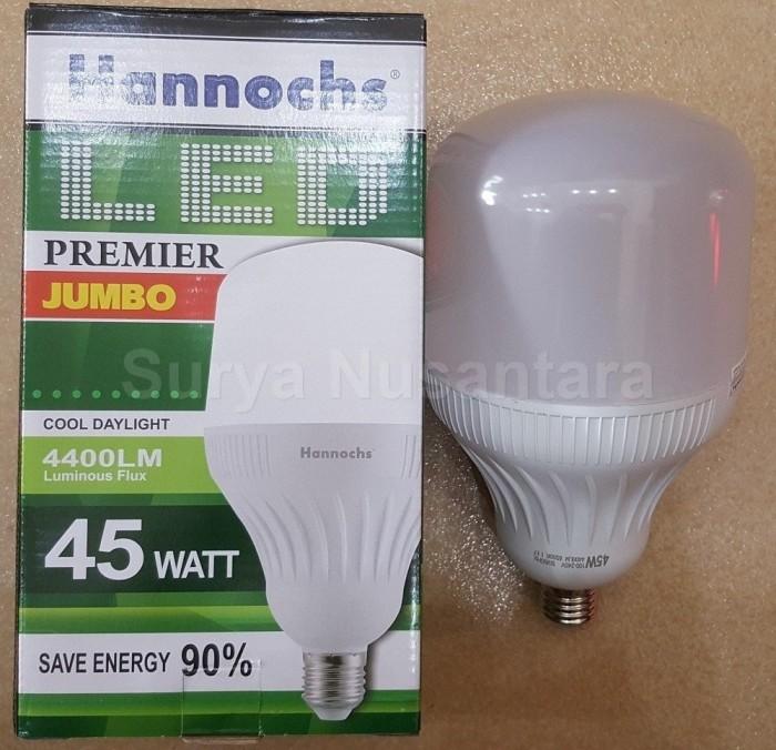 Lampu Led Ledbulb Premier Jumbo 45w 45 Watt Hannochs Terang Bergaransi