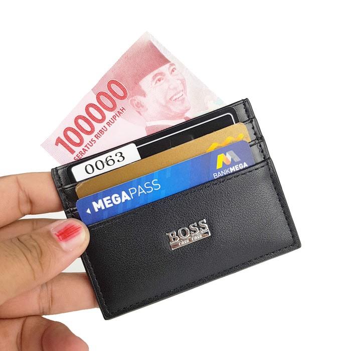 DOMPET STNK GANTUNGAN KUNCI MOBIL MOTOR LIPAT TIGA- CMS SHOP. Source · Dompet kartu card holder import murah - BOSS GR BLACK