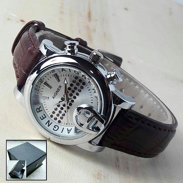 harga Jam tangan aigner kulit coklat Tokopedia.com