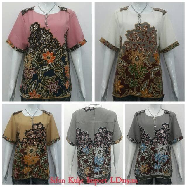 harga Blouse atasan motif batik import 78223 Tokopedia.com