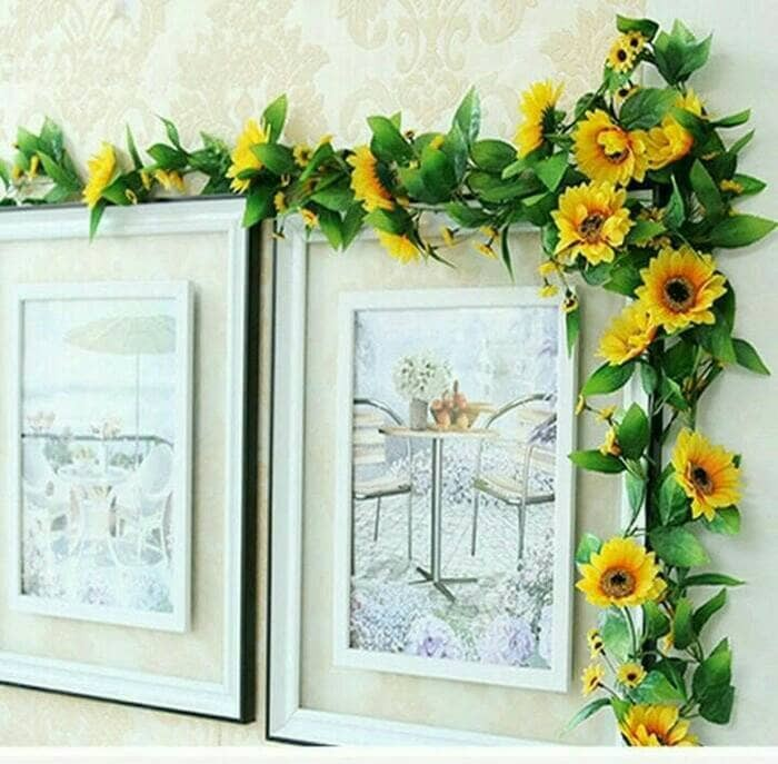 harga Bunga matahari/bunga rambat/bunga hias/bunga dinding/bunga dekora/sun Tokopedia.com