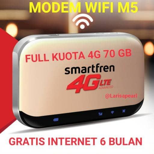 MIFI 4G ROUTER MODEM WIFI SMARTFREN ANDROMAX M5 FREE KUOTA 70GB