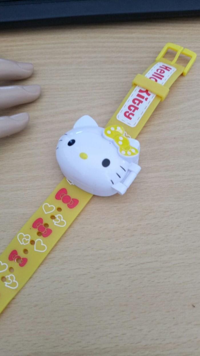 Jual Jam Tangan Anak Karakter Hello Kitty Digital Karet Premium Kuning Kab Tuban Az Zahrra Watch