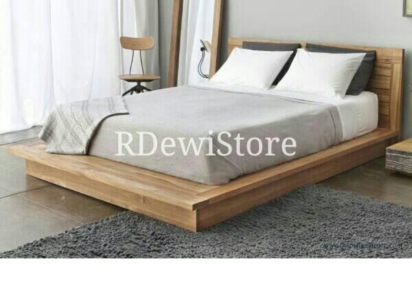 harga Tempat tidur dipan ranjang minimalis kayu jati Tokopedia.com