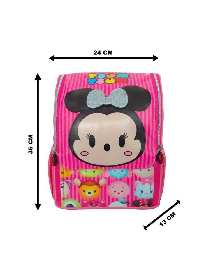 Tas ransel sekolah anak TK jepang 3D tsum tsum pink