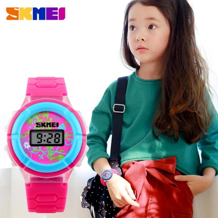 Jam tangan anak perempuan skmei pink / hitam