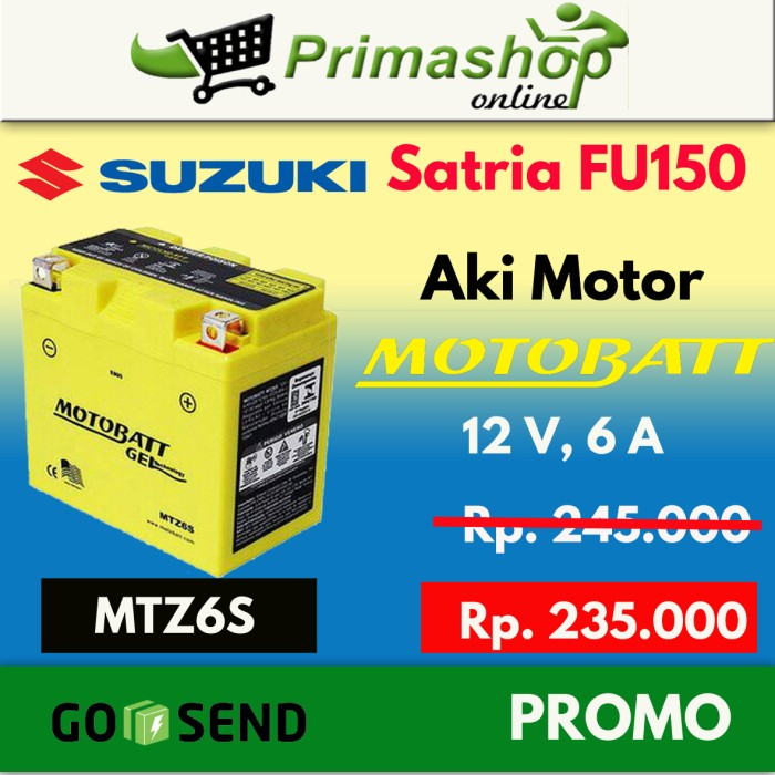 harga Aki motor suzuki satria fu 150  motobatt mtz6s Tokopedia.com