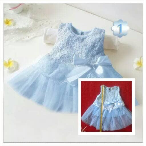 1df53751a238 Jual Dress Baju bayi perempuan import cantik - 0-3 Bulan
