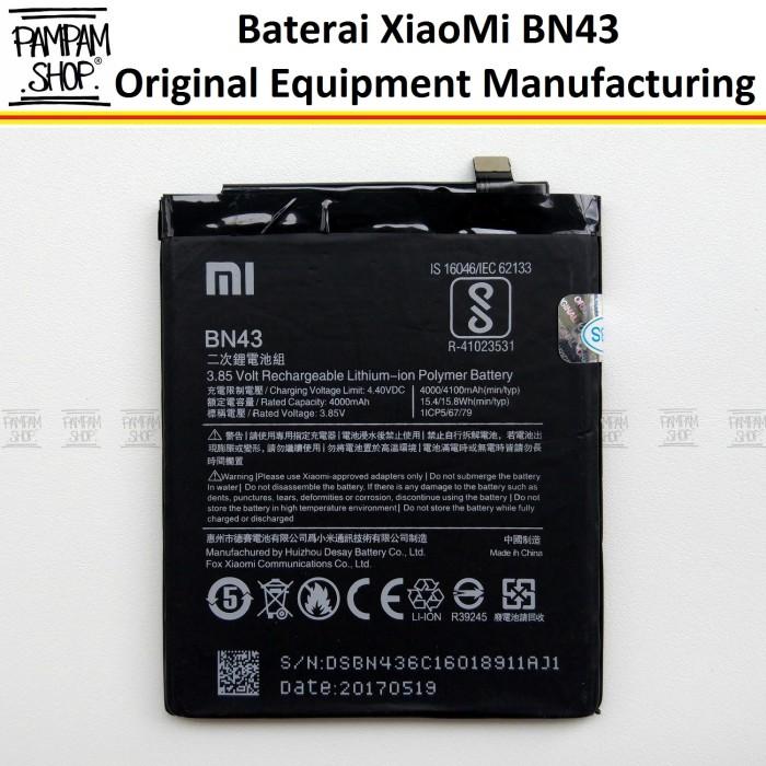 harga Baterai handphone xiaomi redmi note 4x bn43 original oem bn 43 xiao mi Tokopedia.com