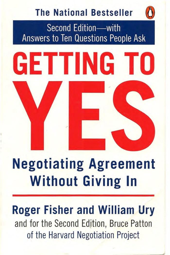harga Getting to yes: negotiating agreement without giving in (2e) [ebook] Tokopedia.com