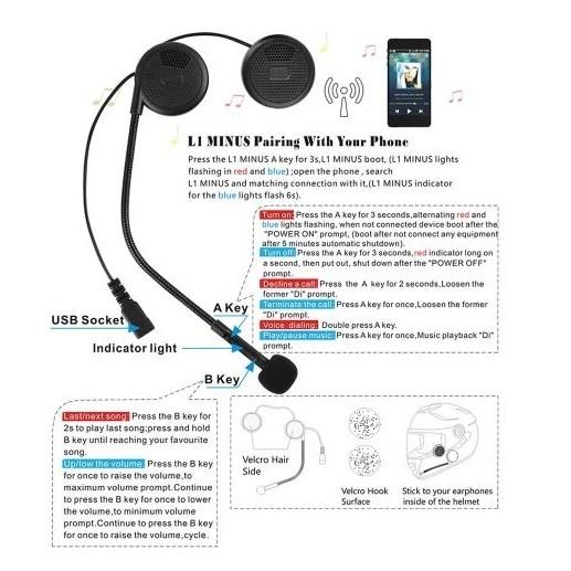 harga Freedconn l1m wireless headset  bluetooth helm headphone stereo music Tokopedia.com