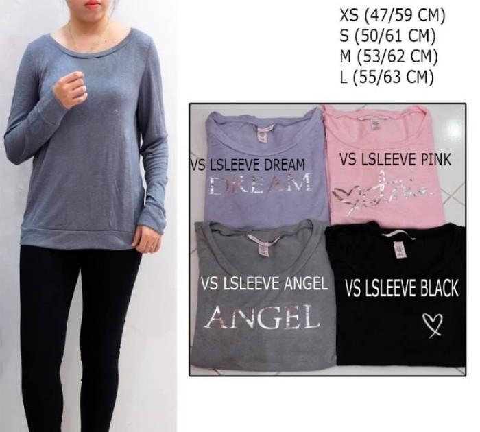 harga Baju branded wanita - victoria secret lsleeve dream/ pink/ angel/black Tokopedia.com