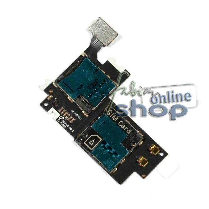 Flexible Konektor/Connector Simcard & Memory Card Samsung Note 2 N7100
