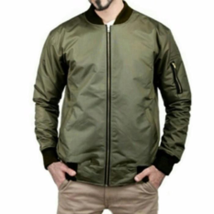 Os Jacket Bomber Hijau Army Limited