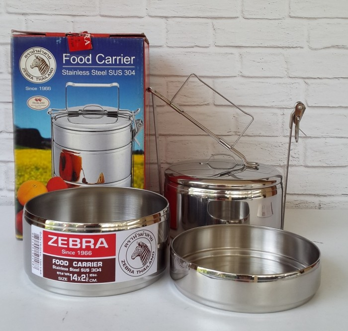 Zebra Rantang Makan/Food Carrier Stainless Uk 14cm Susun 2,5 - 150148