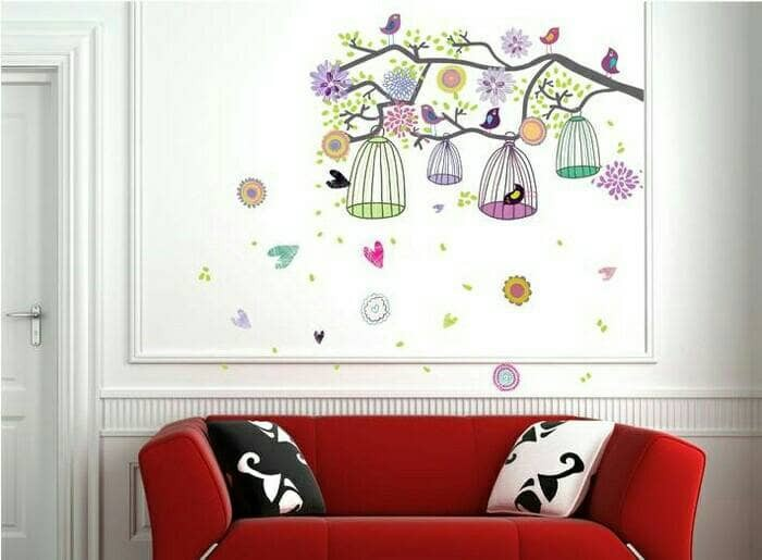 Stiker Dinding Wall Sticker Dapur R Mandi Anak Wanita Colorful