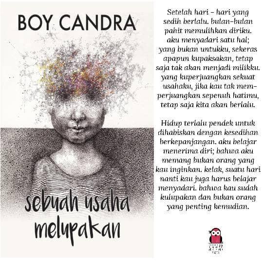 Sebuah Usaha Melupakan - Boy Candra (disc.15%)