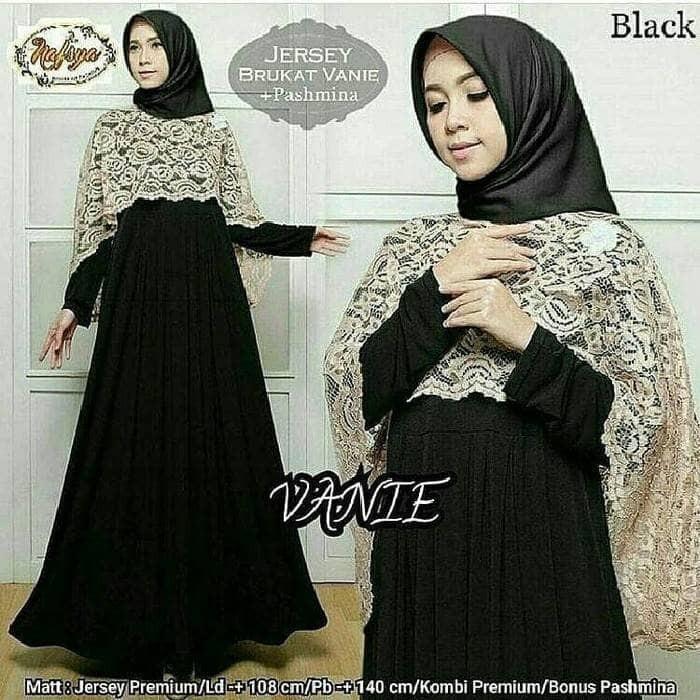 Jual Gamis Maxi Dress Cape Longdress Syari Muslimah Baju Pesta
