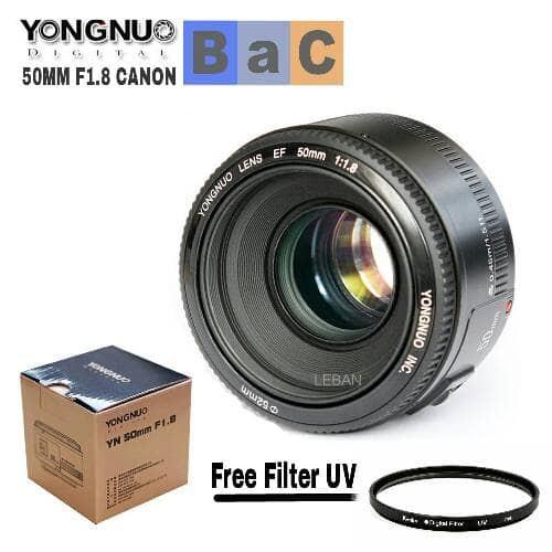 harga Lensa yongnuo 50mm f1.8 canon free uv yn 50mm f1.8 lensa fix canon Tokopedia.com
