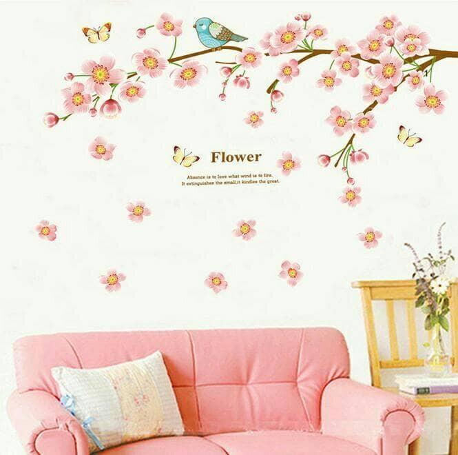 jual stiker dinding /wall sticker dapur kamar mandi anak wanita pink