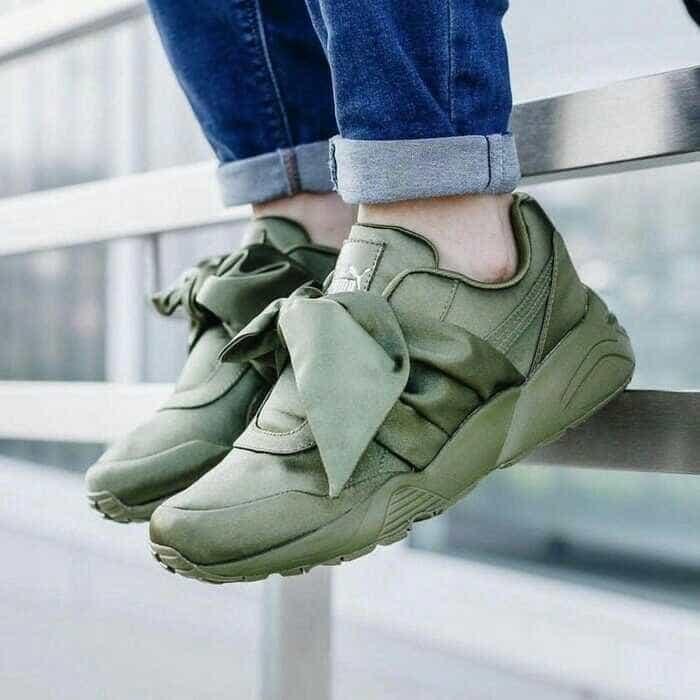 Sepatu wanita puma bow green