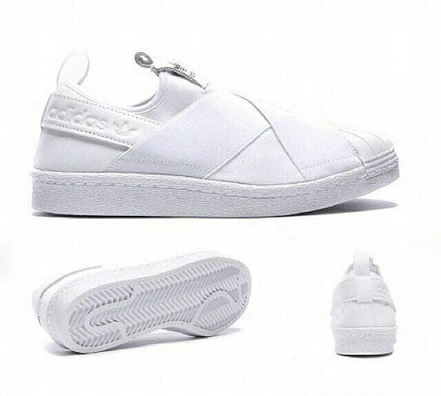 Jual Sepatu Adidas Superstar Slip On Sneakers Women Fullwhite