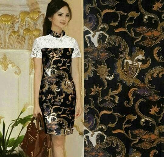 harga Baju / pakaian wanita / dress batik cantik cdx ana dres wayang Tokopedia.com