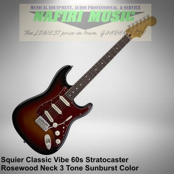 harga Squier classic vibe stratocaster 60s rw 3 tone sunburst baru original Tokopedia.com