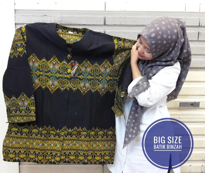 harga Blus jombo batik binzah kode 0352 (big size) Tokopedia.com
