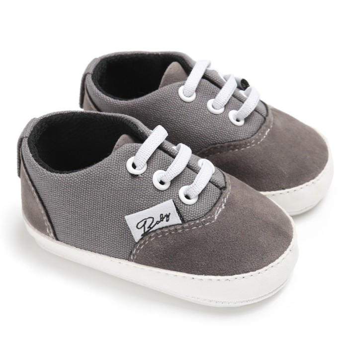 harga Sepatu bayi prewalker  0 - 18 bulan color gray [b9090] Tokopedia.com
