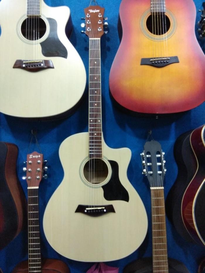 Gitar Akustik Merk Taylor Double Round Jakarta Murah
