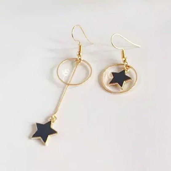 Anting different circle star | aksesoris import murah