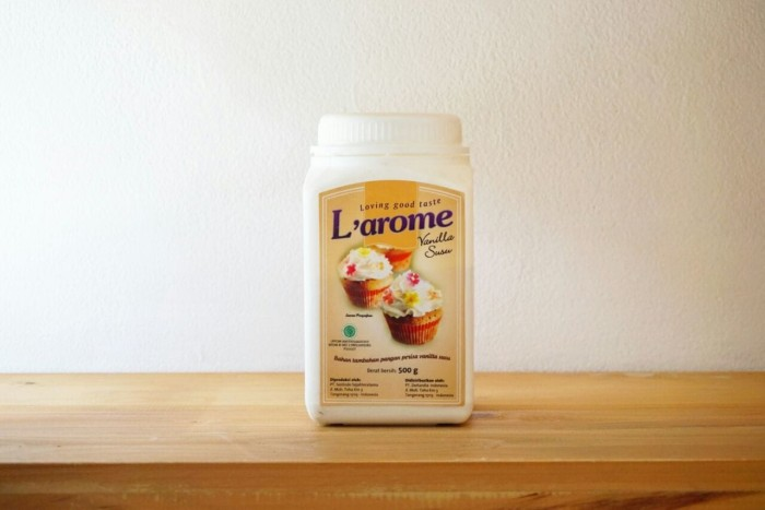 harga L'arome powder vanilla milk 500g (perisa aroma susu vanila) Tokopedia.com