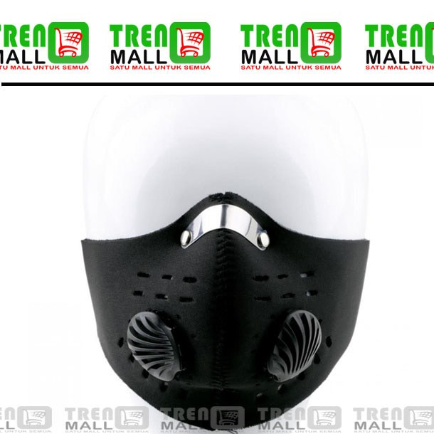 harga Masker sepeda dan motor half face dengan filter anti polusi Tokopedia.com
