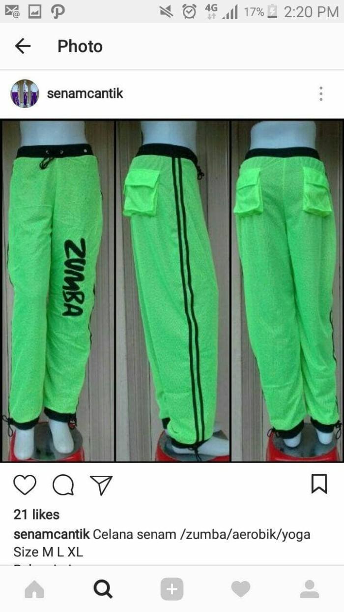 Jual Baju Senam Aerobik Zumba Celana Modis Shirley Aerobic