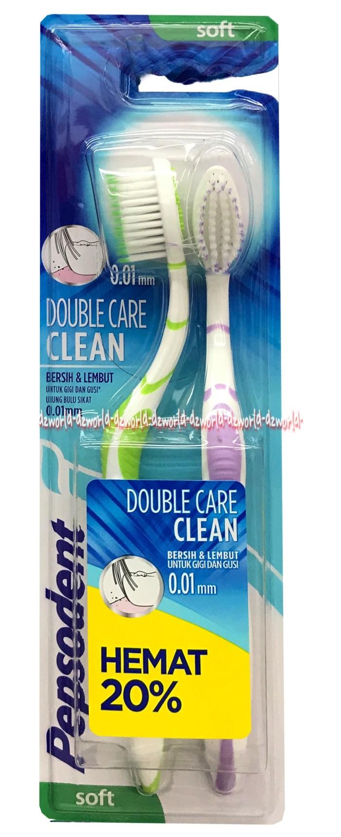 Pepsodent Sikat Gigi Double Care Clean Single Daftar Harga Terkini Deep 1s X 4pcs Merawat Gusi Sensitive 2