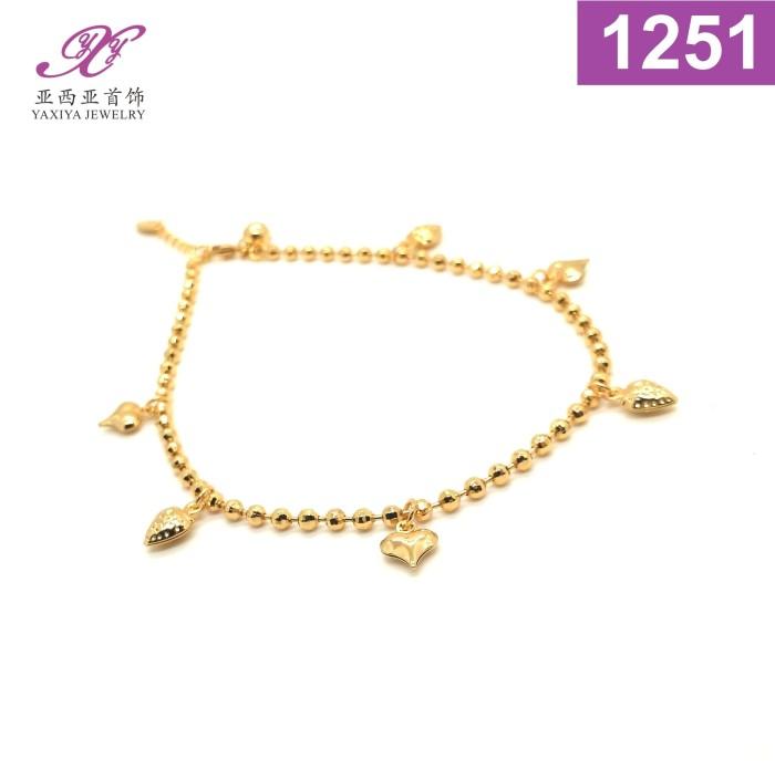 harga Gelang kaki lapis emas perhiasan imitasi gold 18k yaxiya jewelry 1251 Tokopedia.com