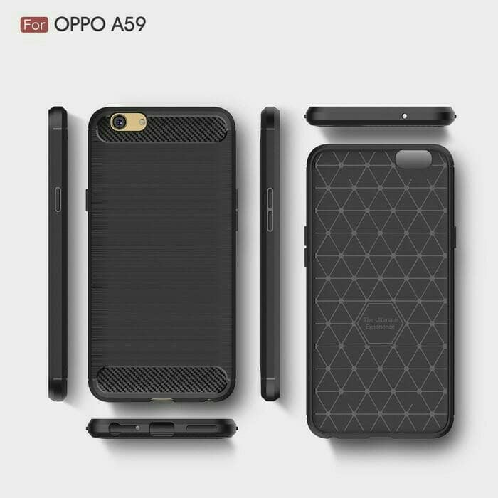 Viseaon Carbon Case Oppo F1S - Softcase Back Casing Cover