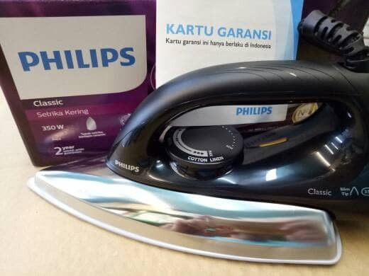 Philips setrika HD 1173 / black / ceramic / go-send
