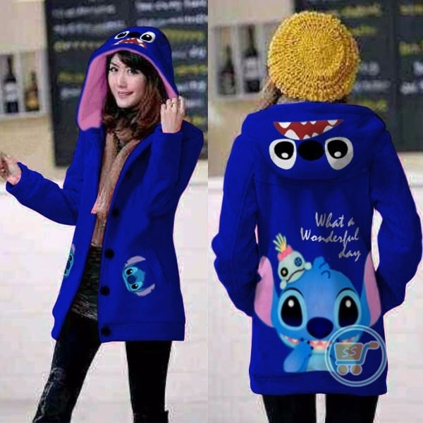 harga Jaket stitch wonderfull day hoodie long sweater mantel cewe blazercoat Tokopedia.com