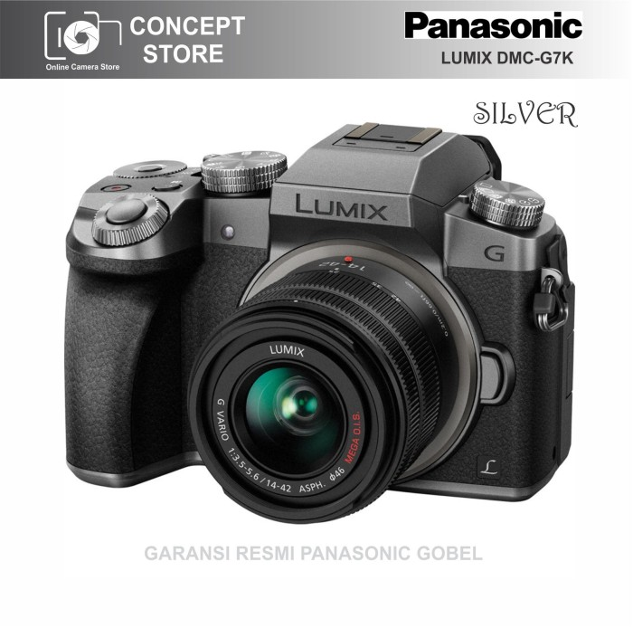 harga Panasonic lumix dmc-g7k kit 14-42mm silver resmi Tokopedia.com