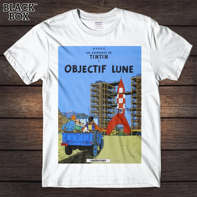 harga Tintin - objectif lune gildan tshirt Tokopedia.com