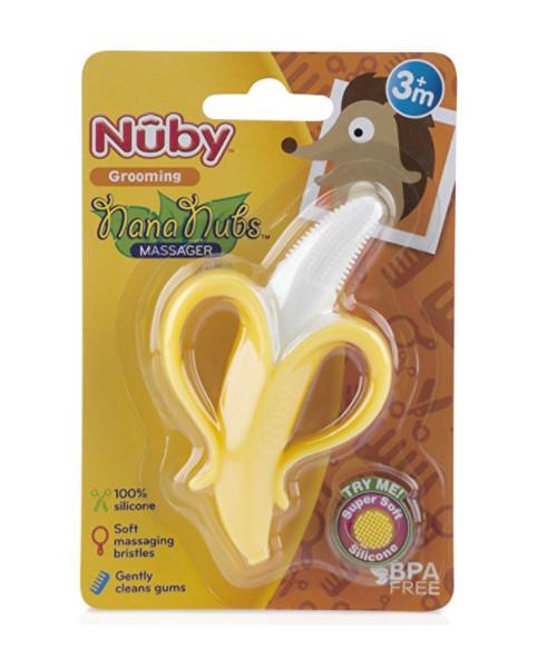 ... harga Nuby nana nubs massager 3m+ teether toothbrush sikat gigi bayi  silikon Tokopedia.com d1c9a7bb7e