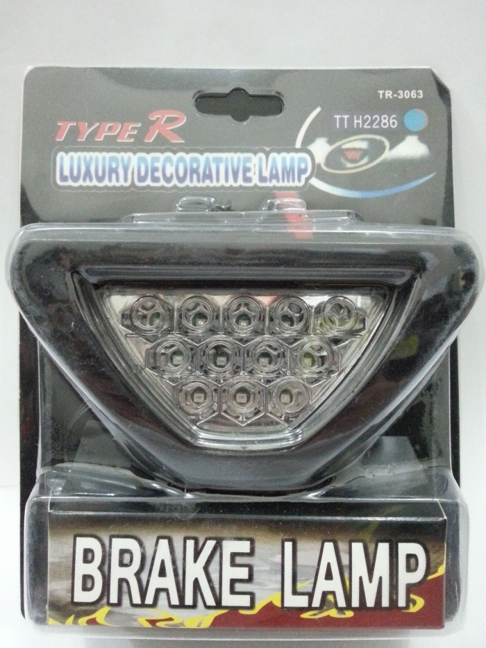 Lampu Rem Stop Lamp Brake F1 Segitiga TYPE R Putih