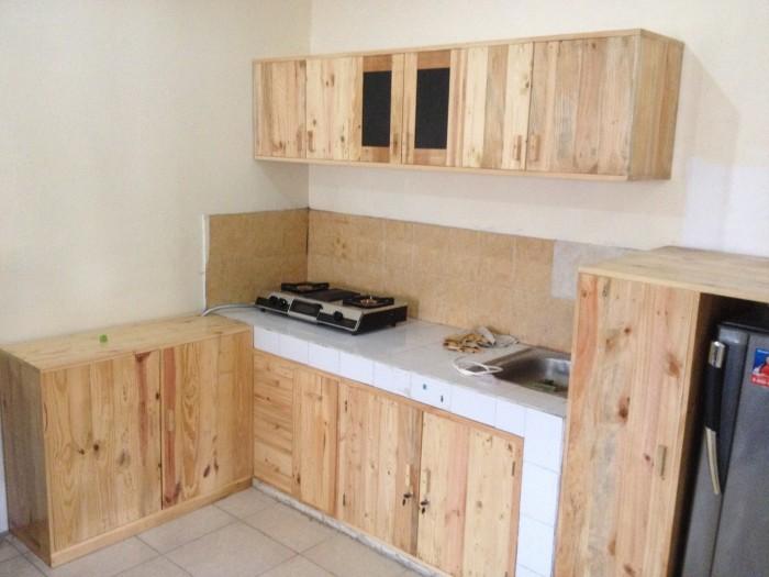 Jual Kitchen Set Lemari Dapur Minimalis Desain Full Kayu Jati