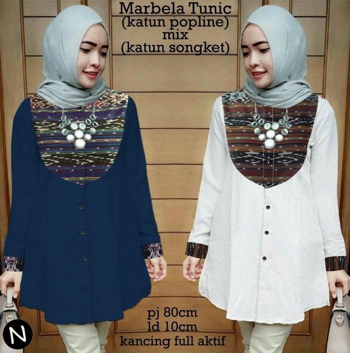 Jual 60325 marbela tunic baju tunik baju batik wanita baju muslim ... 31d682ce9d