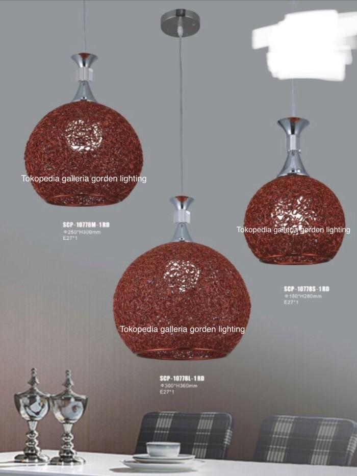 harga Lampu hias gantung dekoasi meja makan 10778/1 rd 18cm Tokopedia.com
